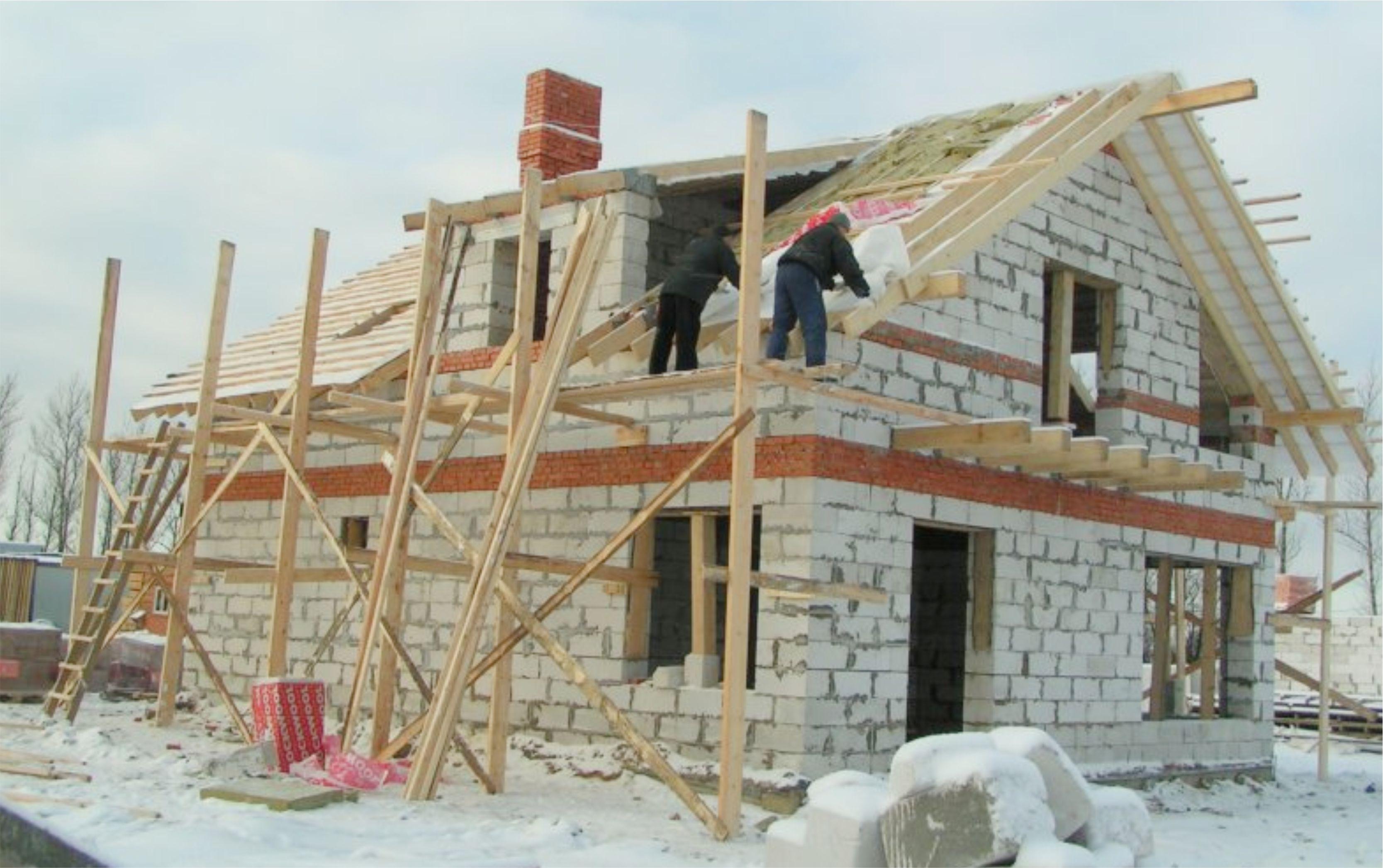 можно ли зимой делать крышу у дома Область ищите